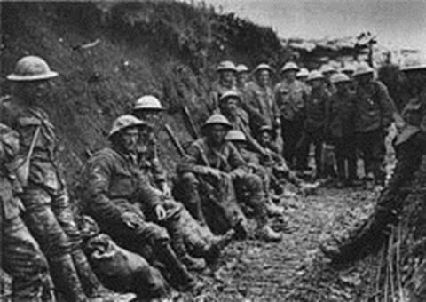 חיילים אירים, בחפירות בעת הקרב על הסום
