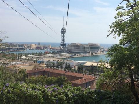 מראה העיר מהרכבל של ברצלונה (צילמה: נטלי שוחט)