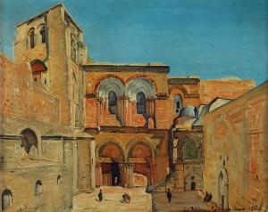 כנסיית הקבר - ציור של לודוויג בלום