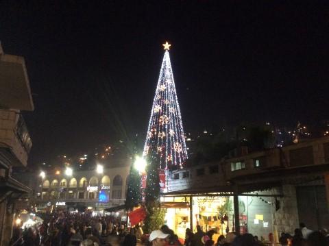 נצרת. עץ חג המולד הגדול ביותר במזרח התיכון
