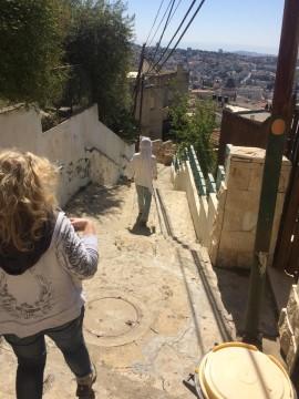 מדרגות שביל ישוע מסומן