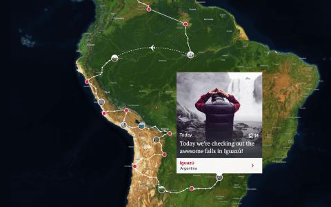 מסלול טיול באפליקציית Polarsteps