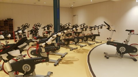 חדר כושר ענק עם כל המכשירים האפשריים. כולל חדר נפרד לשיעורי ספינינג…