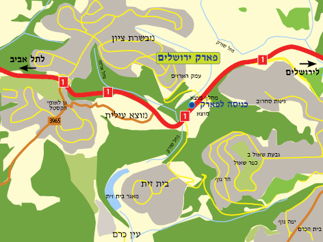 מפת פארק ירושלים