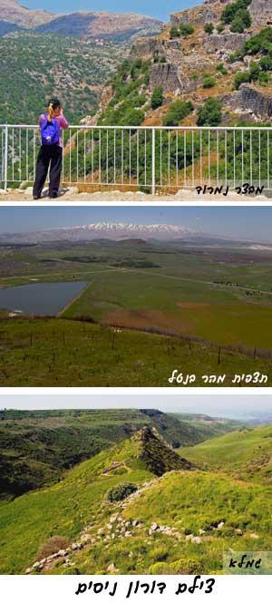 מבצר נמרוד, הר בנטל, רכס בשנית