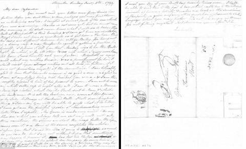 המכתב הידוע הראשון של ג'יין אוסטן בו היא כותבת על ספרה גאווה ודעה קדומה.