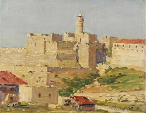 מגדל דוד - ציור של לודוויג בלום