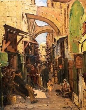 רחוב דוד - ציור של לודוויג בלום
