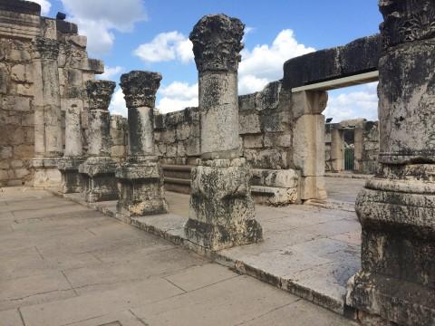 כפר נחום שרידי בית הכנסת היהודי