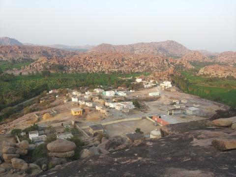 הכפר בו התגוררנו מבט מלמעלה