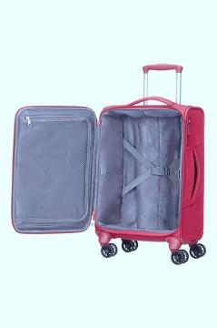 מזוודה סמסונייט Samsonite Spark 55cm - מבט פנים, צבע אדום