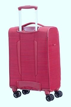 מזוודה סמסונייט Samsonite Spark 55cm - מבט אחורי, צבע אדום