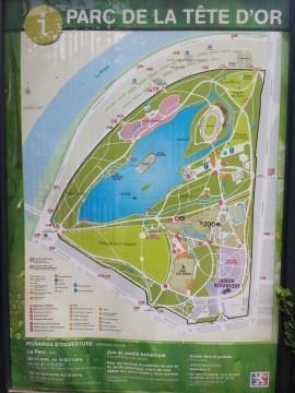 מפת הפארק היפה בליון - אגם, גן חיות, גנים נסתרים ועוד.