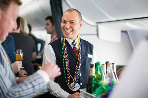LONDON, UK: British Airways' VIP charter flight to New Orleans, the airline's newest destination. (Picture by Nick Morrish/British Airways)