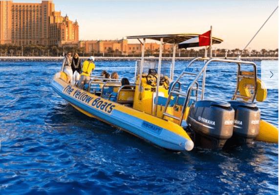 סיור בסירות הזודיאק הצהובות של דובאי