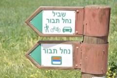 שלט הכוונה למסלול טיול נחל התבור. צילם: אורן פלס. מתוך אתר פיקיוויקי